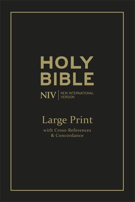NIV Large Print Single Column Deluxe Reference Bible (Leather Binding)