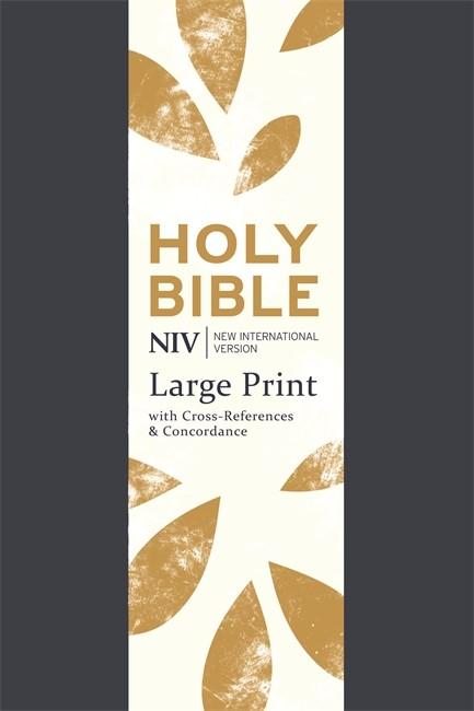 NIV Large Print Single Column Deluxe Reference Bible (Flexiback)