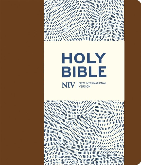 NIV Journalling Brown Imitation Leather Bible With Clasp (Flexiback)