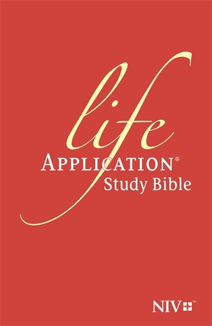 NIV Life Application Study Bible (Anglicised) Orange (Hard Cover)