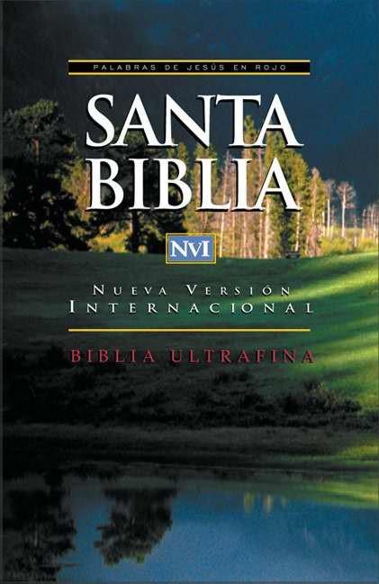 NVI Santa Biblia Ultrafina (Leather Binding)