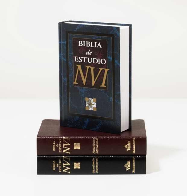 Biblia De Estudio Nvi (Leather Binding)