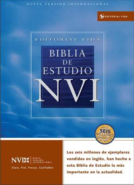 Biblia De Estudio Nvi Con indice (Leather Binding)