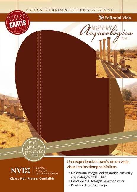 Santa Biblia De Estudio Arqueologica Nvi (Leather Binding)