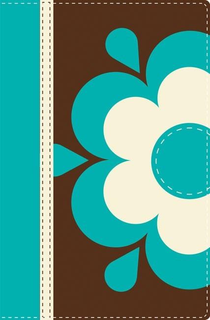 NVI Santa Biblia Ultrafina, Dos Tonos Itlailana Flor (Leather Binding)