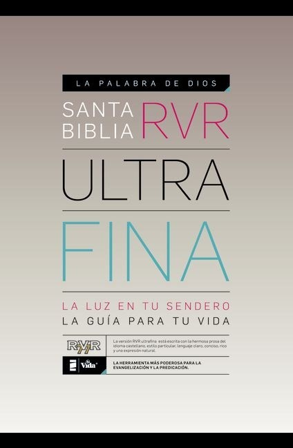 RVR 1977 Santa Biblia Ultrafina Black (Imitation Leather)