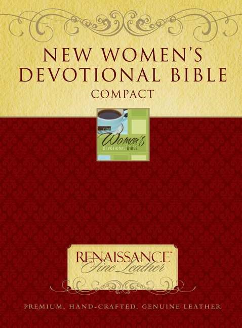 New Women's Devotional Bible, Compact (Genuine Leather)