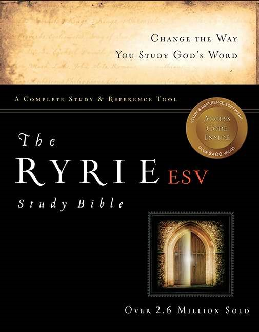 The ESV Ryrie Study Bible Hardback Red Letter Indexed (Hard Cover)