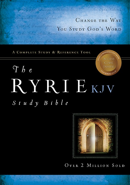 KJV Ryrie Study Bible Genuine Leather, Black, Red Letter (Leather Binding)
