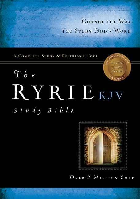 KJV Ryrie Study Bible, Black, Red Letter, Indexed (Bonded Leather)