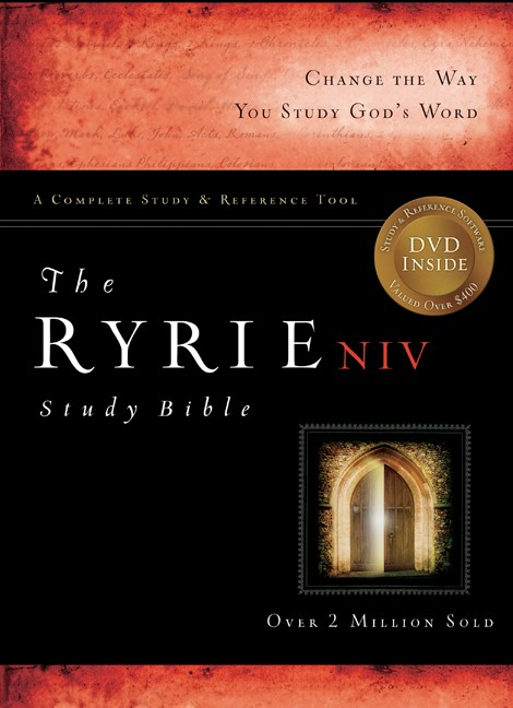 NIV Ryrie Study Bible Bonded Leather Navy Red Letter Ind, Th