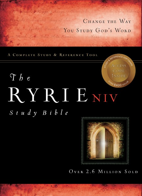 NIV Ryrie (1984 Edition) Study Bible Bonded Leather Burg, Th