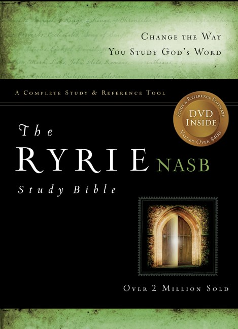 The NAS Ryrie Study Bible Bonded Leather Green Red Letter (Leather Binding)