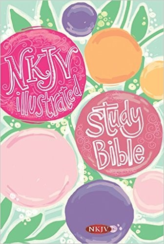 NKJV Illustrated Study Bible For Kids, Flower Hardcover (Hard Cover)