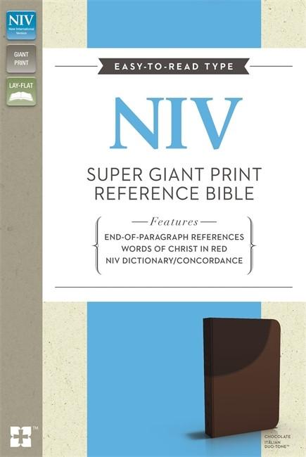 NIV Super Giant Print Reference Bible Chocolate Imitation Le (Flexiback)