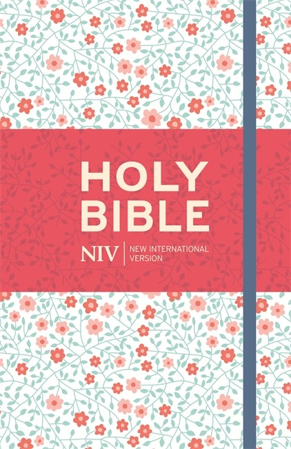 NIV Thinline Floral Cloth Bible (Hard Cover)