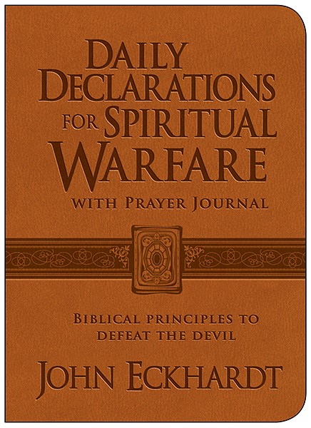 Daily Declarations For Spiritual Warfare With Prayer Journal (Leather Binding)