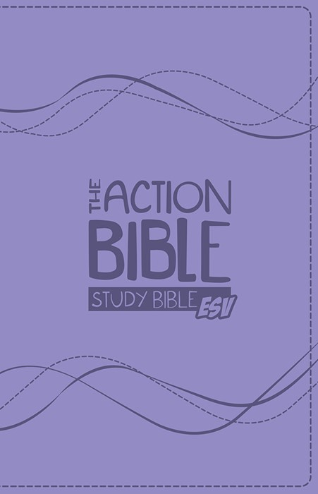ESV Action Bible Study Bible, Lavender (Imitation Leather)