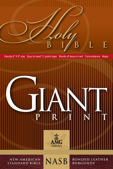 NASB Giant Print Handy-Size Reference Bible (Leather Binding)