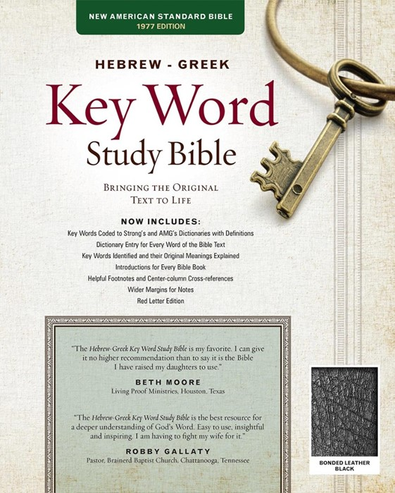 NASB Hebrew-Greek Key Word Study Bible BL Black Indexed (Leather Binding)