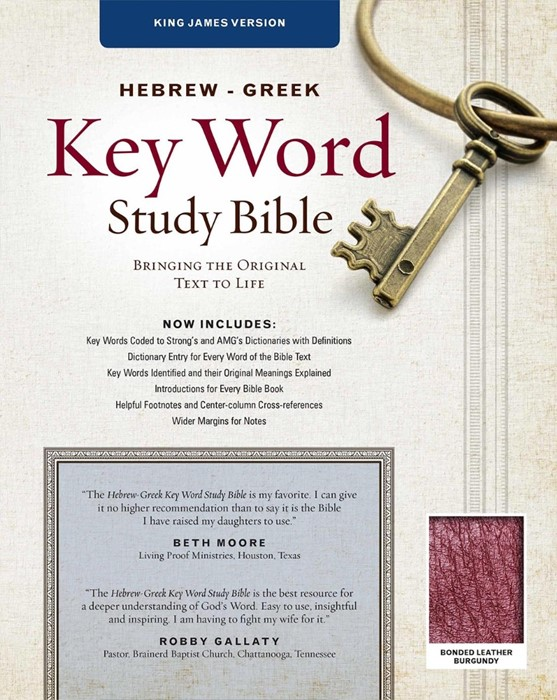 The KJV Hebrew-Greek Key Word Study Bible Burgundy (Bonded Leather)