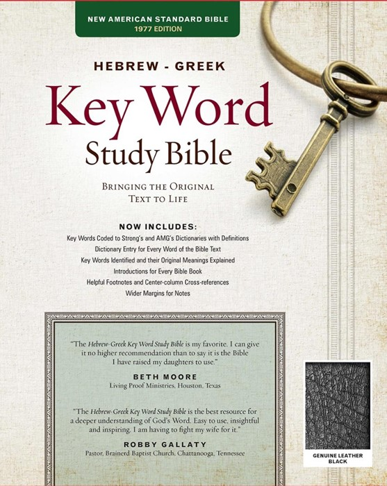The NASB Hebrew-Greek Key Word Study Bible Black (Leather Binding)