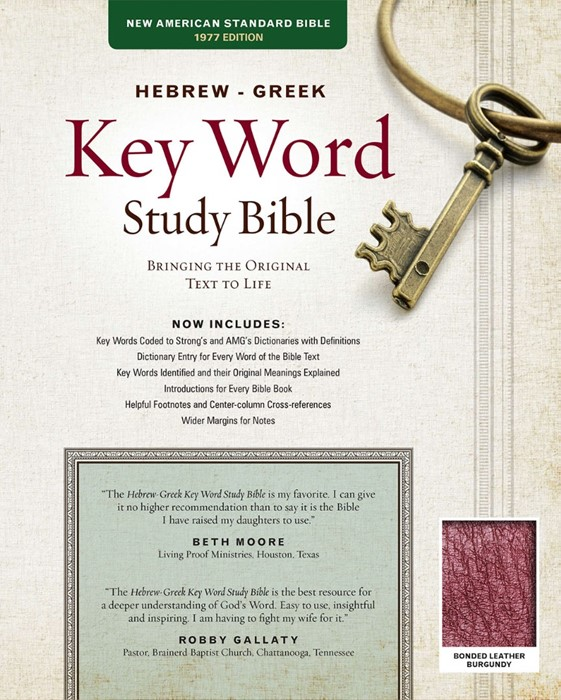 The NASB Hebrew-Greek Key Word Study Bible Burgundy (Bonded Leather)