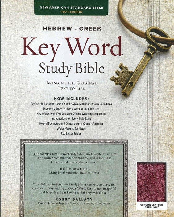 The NASB Hebrew-Greek Key Word Study Bible (Leather Binding)