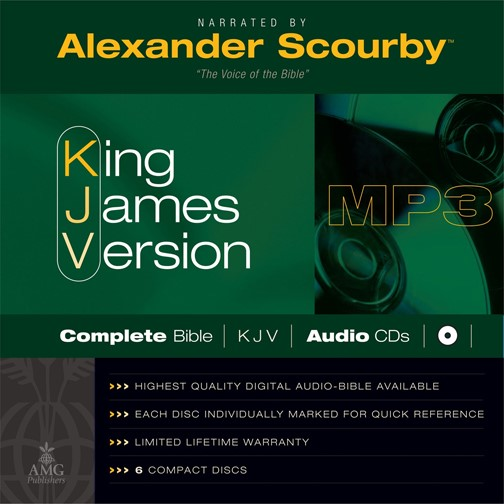 KJV Scourby Complete Bible Audio Mp3 CD (CD-Audio)
