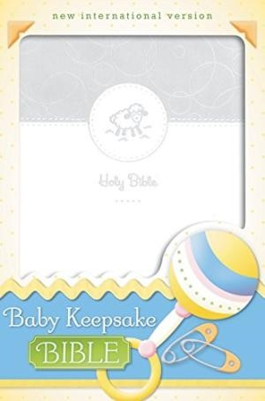 NIV Baby Keepsake Bible White Duo Tone (Flexiback)