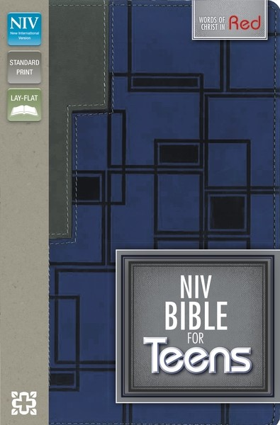NIV Bible For Teens Charcoal/Blue Duo Tone (Flexiback)