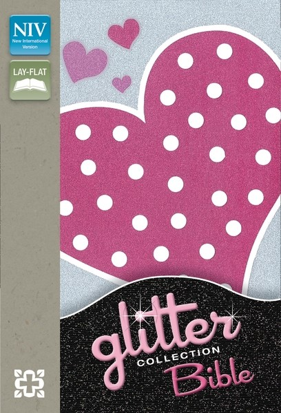 NIV Glitter Bible Collection Flexicover Pink Heart (Flexiback)