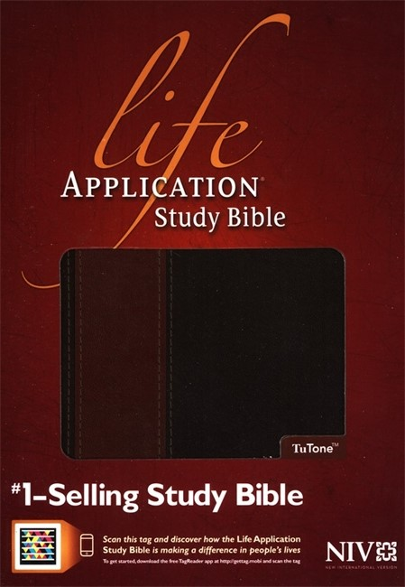 NIV Life Application Study Bible Tutone Brown/tan (Flexiback)