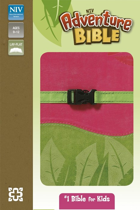 NIV Adventure Pink And Green Soft-Tone Bible (Flexiback)