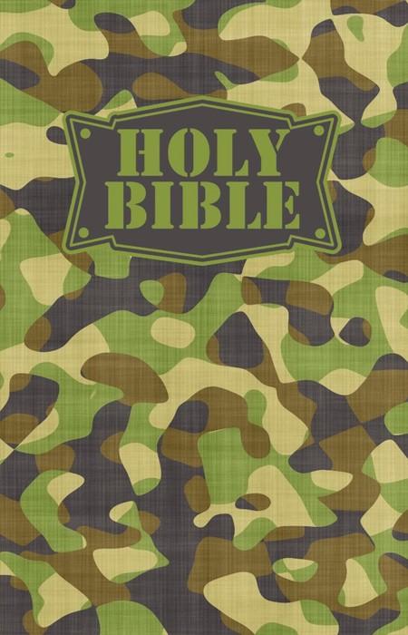 NKJV Camouflage Bible Green (Paperback)