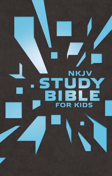 NKJV Study Bible For Kids Grey/Blue Cover (Hard Cover)