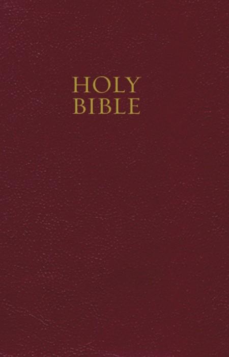 KJV Pew Bible Burgundy (Hard Cover)