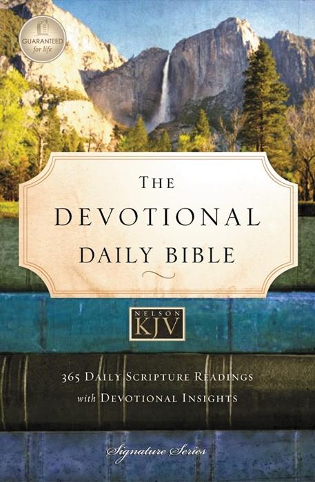 Devotional Daily Bible, Kjv (Hard Cover)