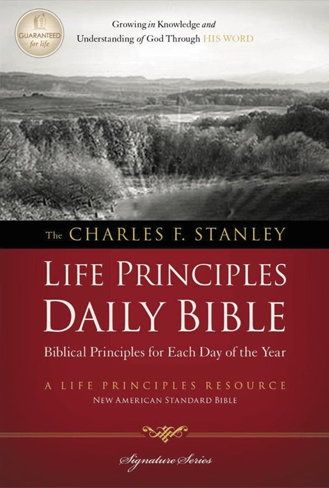 NASB Charles F. Stanley Life Principles Daily Bible (Paperback)