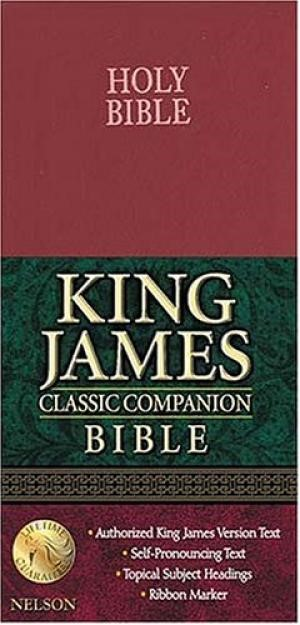 KJV Checkbook Bible (Bonded Leather)