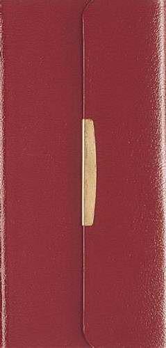 NKJV Checkbook Bible Burgundy (Bonded Leather)