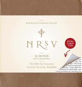 NRSV XLarge Print Bible Amalfi Cover Brown (Hard Cover)
