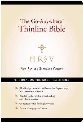 NRSV: Go-Anywhere Thinline Bible, Bonded Leather, Black (Leather Binding)