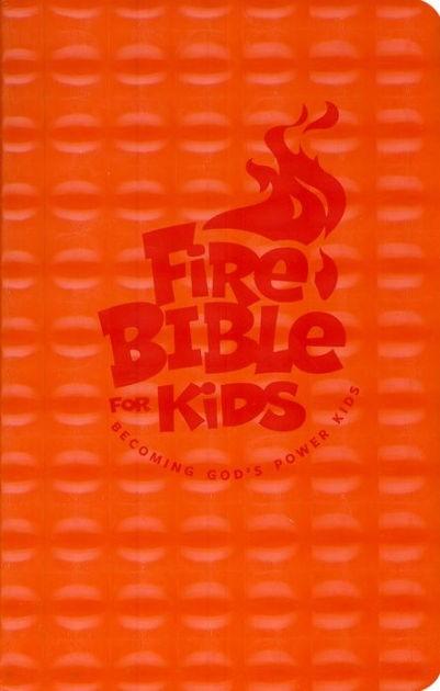 NKJV Fire Bible For Kids, Orange (Flexisoft)