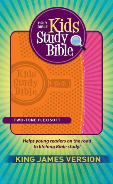 KJV Kids Study Bible, Orange/Pink (Flexisoft)