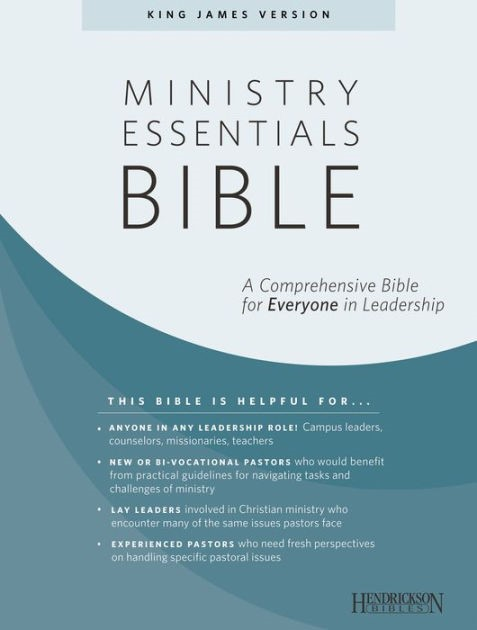 KJV Ministry Essentials Bible (Genuine Leather)