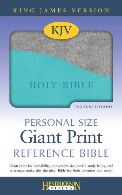 KJV Personal Size Giant Print Reference Bible, Turquoise (Mass Market)