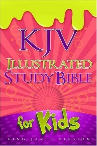 KJV Illustrated Study Bible For Kids, Pink Leathertouch (Imitation Leather)