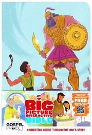 Big Picture Interactive Bible For Kids, David And Goliath (Imitation Leather)