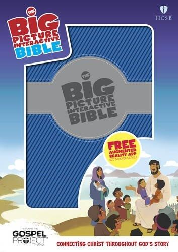 HCSB Big Picture Interactive Bible, Blue/Silver Leathertouch (Imitation Leather)